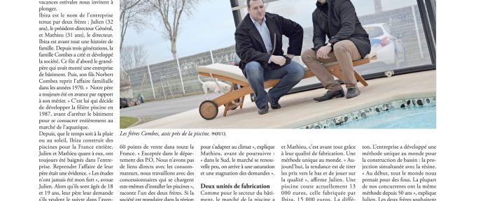 L'Echo du Roussillon parle de Piscines IBIZA