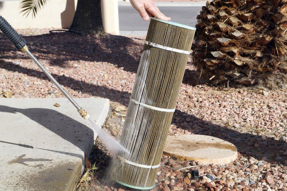 Nettoyage d'un filtre à cartouche