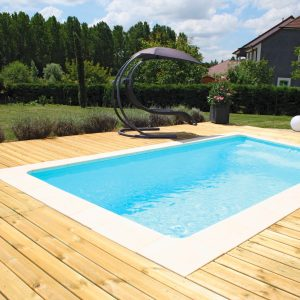 piscine coque rectangulaire bahamas couverture