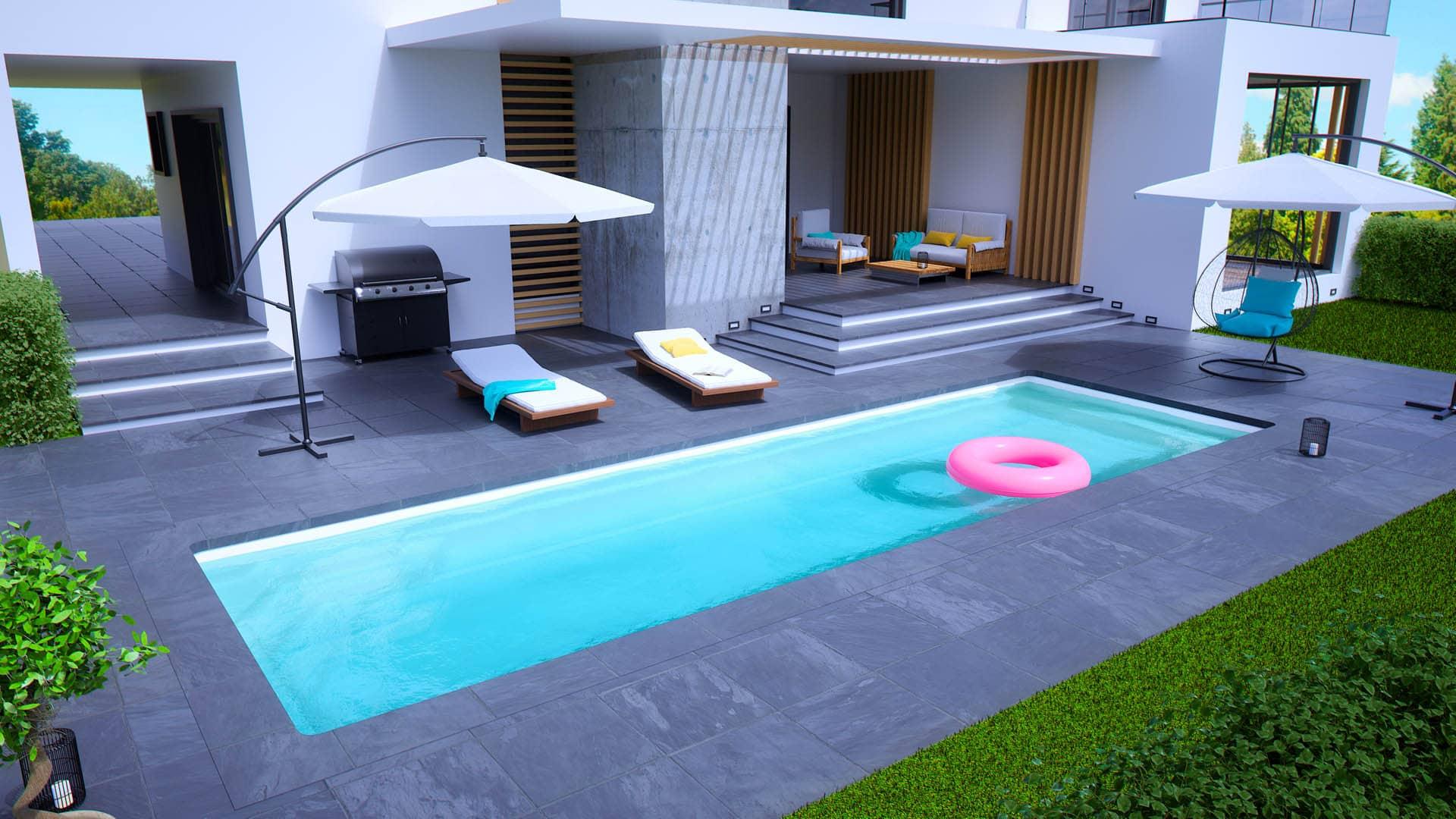 Prix D Un Couloir De Nage couloir de nage coque polyester pour la natation - piscines