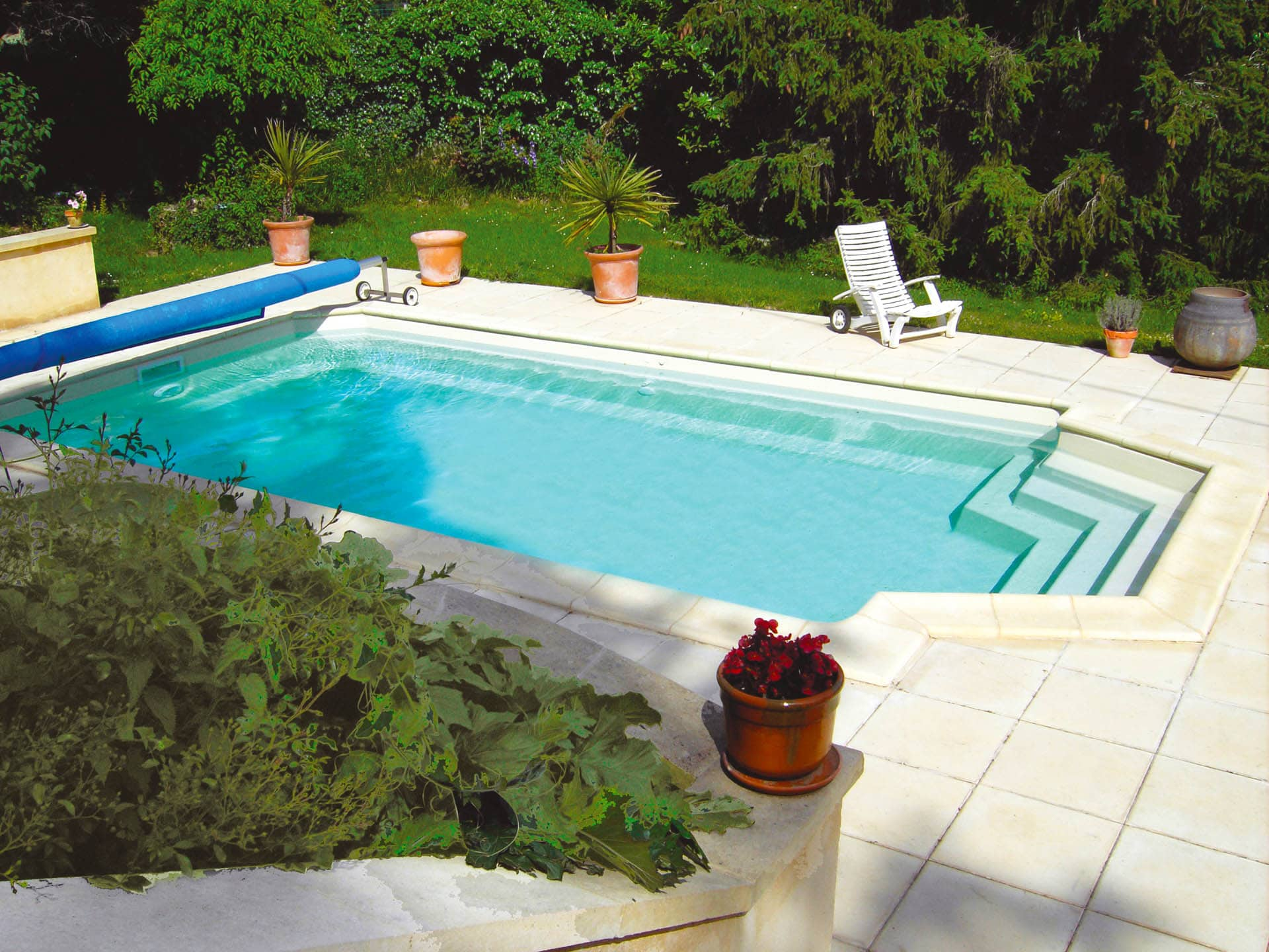 Piscine Coque Polyester Forme Rectangulaire 7x4 A Fond Plat Nevada 1 Piscines Ibiza
