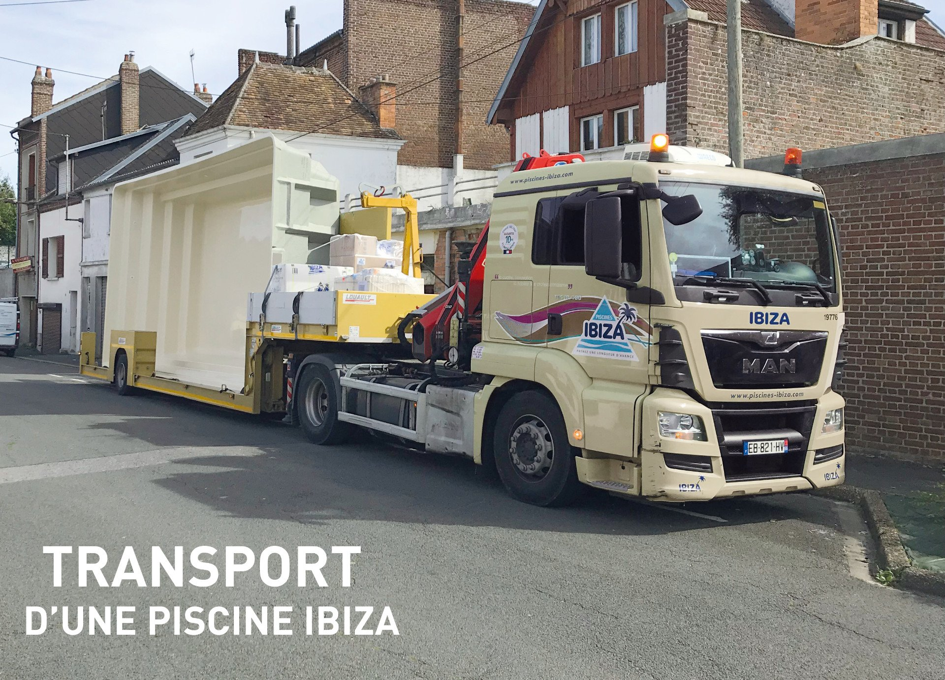 TRANSPORT PISCINE COQUE IBIZA