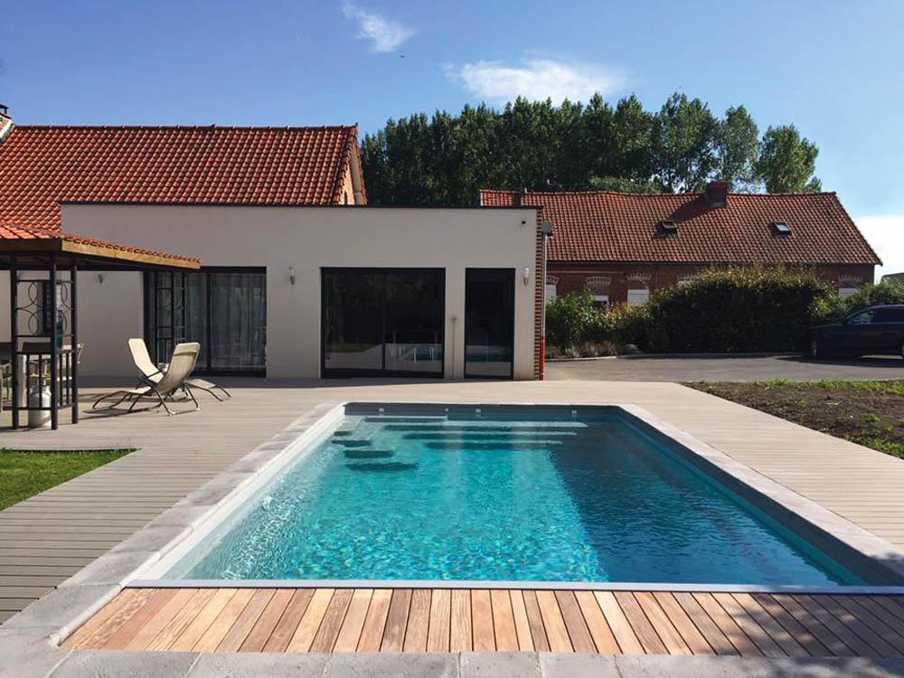 piscine coque rectangulaire riviera4 a