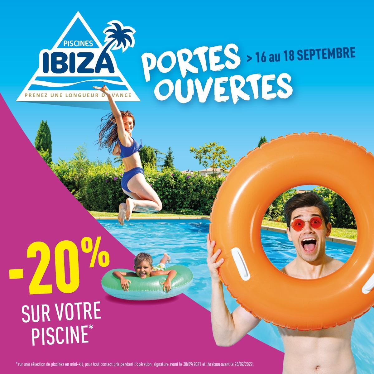 Journées portes ouvertes Piscines Ibiza du 16 au 18 septembre 2021